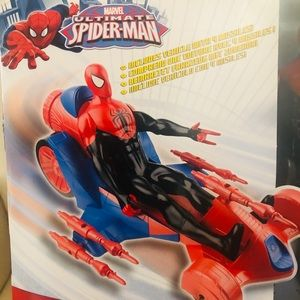 SPIDERMAN ACTION FIGURE TURBO RACER BRAND NEW!
